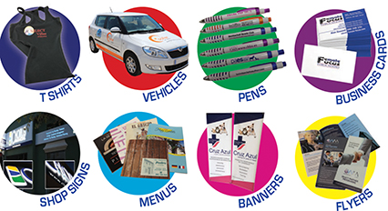 SR Print: Professional Shop Signs - Window Graphics - Posters - Banners - A Boards - Vehicle Branding - Personalised Printed Stationery - T-Shirts - Canvas Prints - Pens - Mugs - Light Boxes - flyers - Menus - Broughers - doc. holders - magazines.