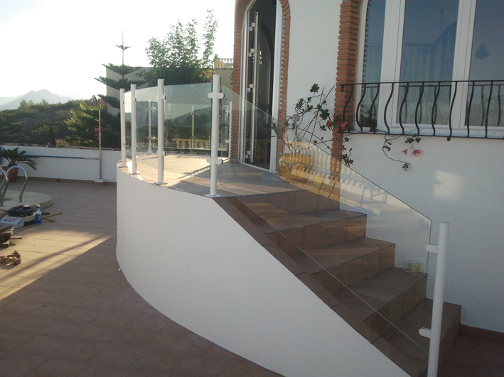 Glazed walls perfect for stairs and swimming pools, all in security glass for your safety from LUX-AL