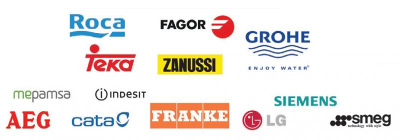 Just some of the companies Church Kitchens work with and stock.